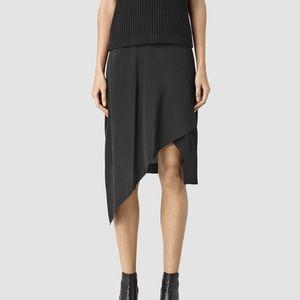 ALLSAINTS Cecilia Skirt BLACK 4 US